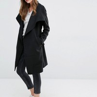 JDY Wrap Coat at asos.com