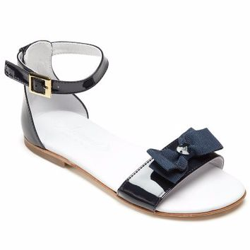 Armani Girls Navy and White Fancy Sandal