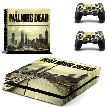 The Walking Dead PS4 Skin Sticker For PS4 PlayStation 4 Console and 2 Controller skin