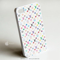 Louis Vuitton Rainbow Pattern iPhone 4/4s Case, iPhone 5 Cover