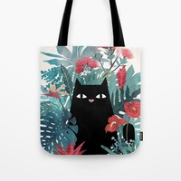 Popoki Tote Bag by littleclyde