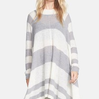 Women's Free People 'Lafayette' Stripe Alpaca Blend Poncho,