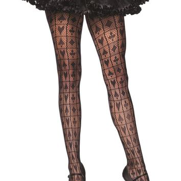 Leg Avenue Female Card Shark Checkerboard Net Pantyhose 9987