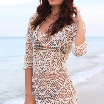 Crochet Bikini Cover Up | Bikini Luxe Cover Up