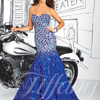 Strapless Sweetheart Formal Prom Dress Tiffany Designs 16029