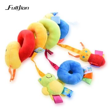 Fulljion Baby Stroller Accessories Rattles Mobiles Trolley Educational Toys For Kids Plush Cars Hanging Bed Bells Carriage Dolls