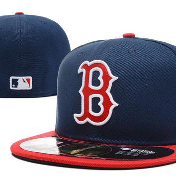 Boston Red Sox New Era MLB Authentic Collection 59FIFTY Hat Blue-Red