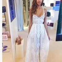 Fashion Summer Lace Boho Maxi Evening Party Bodycorn Long Dress Beach Skirt = 4765099524