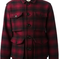 Burberry checked shirt jacket