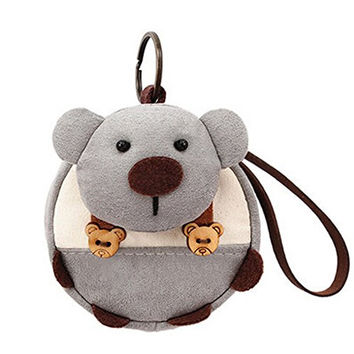 "[Bear]Small Pocket Purse Animal Case Zipper Pouch Wallet Bag 3.94""3.94"""