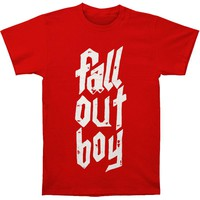 Fall Out Boy Men's  Metal Stack Slim Fit T-shirt Red