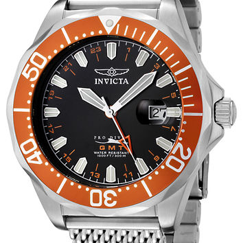 Invicta 6354 Men's Grand Pro Diver GMT Mesh Band Watch