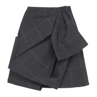 Ruched Plaid Skirt | Moda Operandi