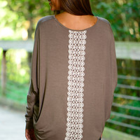 Set Me Free Top, Taupe