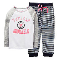 Product: Carter's® Girls' 2T-4T 2-Piece Totally Adorable Pajama Set