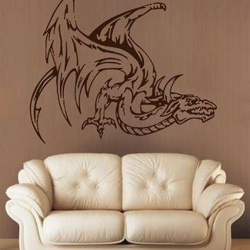 ik1599 Wall Decal Sticker Dragon mythical animal living bedroom teens
