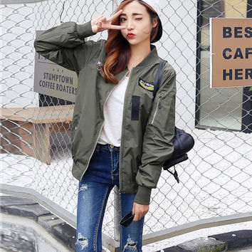 FW16 On Sale Sports Hot Deal Winter Korean Jacket Embroidery Zippers Baseball [8511503559]