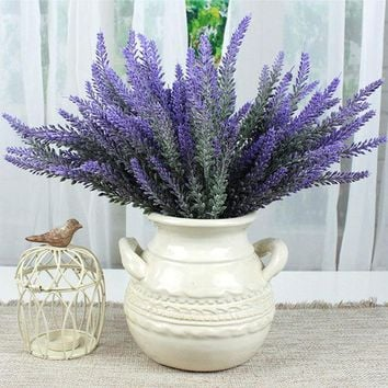 Provence Lavender Flower Silk Tomentum Artificial Flowers Grain Decorative Fake Flores Bouquet