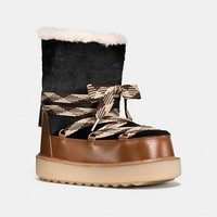 Shearling Bootie in Haircalf