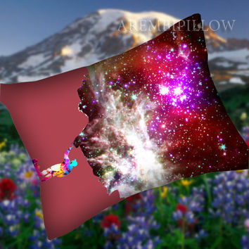 Painting the Universe Stretched Canvas - Pillow Case,Retro Pillow,Throw Pillow,Sova Pillow,Pillow Cover.The Best Pillow.