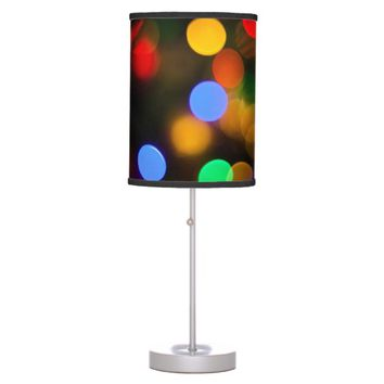 Multicolored Christmas lights. Desk Lamp