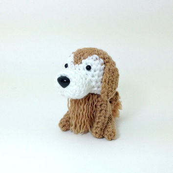 Golden Retriever Sugar Face Plush Stuffed Animal Crochet Dog Amigurumi Puppy Decor / Made to Order