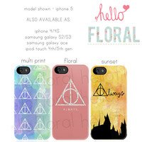 Harry Potter Inspired iPhone 4/4S 5 5c 5s Samsung Galaxy S2 S3 S4 Ace iPod Touch 4th 5th hard case