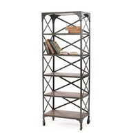 """Eclipse Home Collection Crossed Back Bookshelf 24"""" L  x 14.25"""" W  x 65"""" H"""
