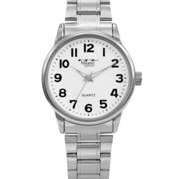 M Milano Expressions Silver Metal Band, Silver Case