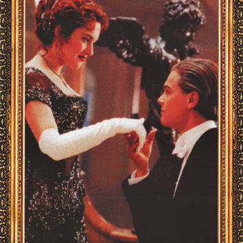 Titanic Rose and Jack Kiss Movie Poster 24x33