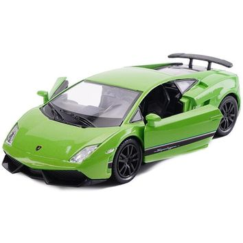 1:36 Simulation Toy Vehicles Diecast Car Alloy Metal For Lamborghini Gallardo LP570 Model Car Toy For Boys Vehicles For Kids