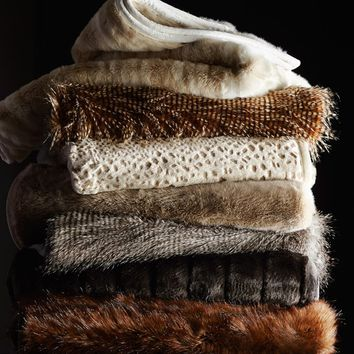 Faux Fur Throw, Mink