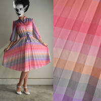 Vintage Rainbow Shirt Dress by Signor California