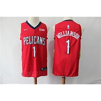 Men's New Orleans Pelicans Zion Williamson Nike Red Swingman Jersey - Association Edition - Best Deal Online