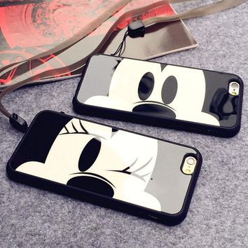 JCASE Fashion Couple Cell phone Case for iphone X Case Mickey Mouse Minnie Cover Soft Silicon Cases for iphone 6s 7 8 plus Coque