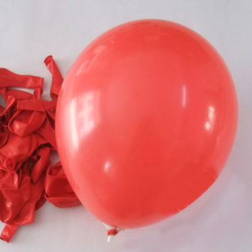 Latex Balloons Party Supplies, 12-inch, 12-piece, Red