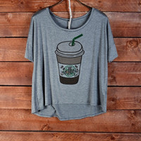 Coffee Forever Tee - Grey
