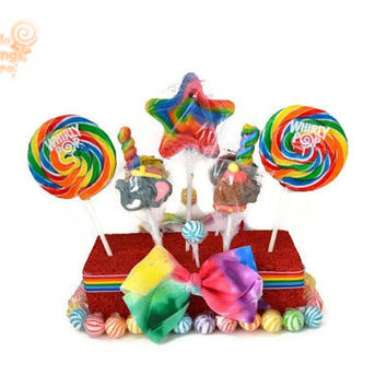 Circus Lollipop Centerpiece, Carnival Candy Centerpiece, Lollipop Arrangement, Candy Arrangement, Circus, Carnival, Rainbow, Birthday
