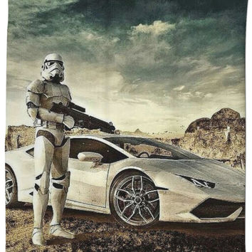 Star Wars With Sports Car Curtain