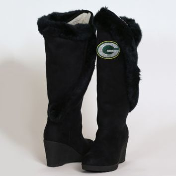 Cuce Shoes Green Bay Packers Women's Cheerleader Boots - Black - http://www.shareasale.com/m-pr.cfm?merchantID=7124&userID=1042934&productID=525384482 / Green Bay Packers