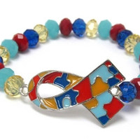 Inspirational Autism 'Awareness' Stretch Bracelet