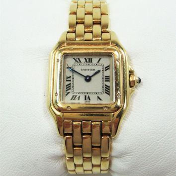 Cartier Panthere W25022B9 Luxury Wrist Watch for Women 750 / 18K incl Bracelet