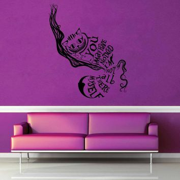 Chesire Cat - Alice in Wonderland - Wall Decal$19.95