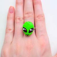 Cute alien ring