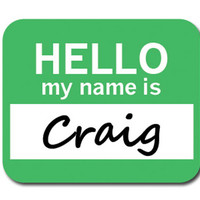 Craig Hello My Name Is Mouse Pad