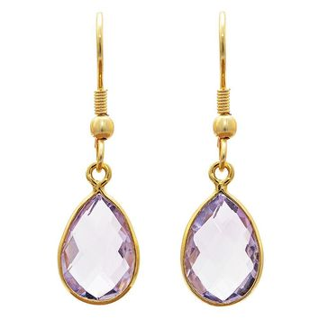 Gold-overlay Amethyst Earrings