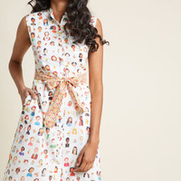 Familiar Face Shirt Dress