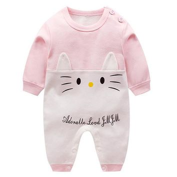 Spring Baby Romper Long Sleeves Baby Girl Clothes Cartoon Newborn Boys Clothing Costume Cotton Overalls for Children Onesuit