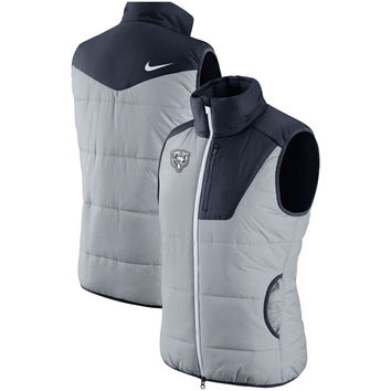 Women's Chicago Bears Nike Heathered Gray Champ Drive Vest