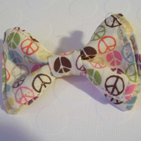 Peace Sign Bow Tie Newborn to 5T